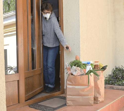 receiving grocery packages