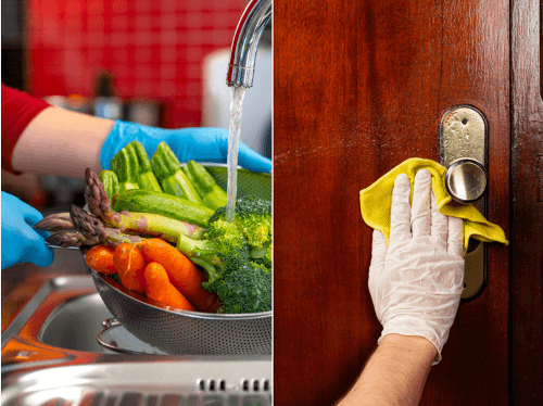 sanitizing your home and washing vegetables