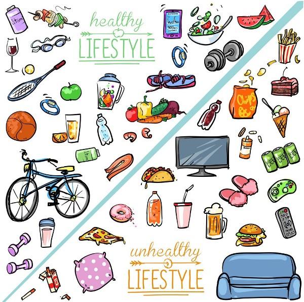 Healthy vs unhealthy lifestyle