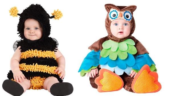 owl and bee babies Halloween costumes