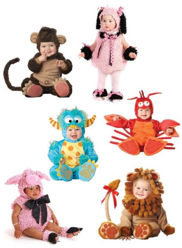 animal shape babies Halloween costumes