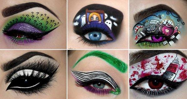 Halloween eye makeup looks