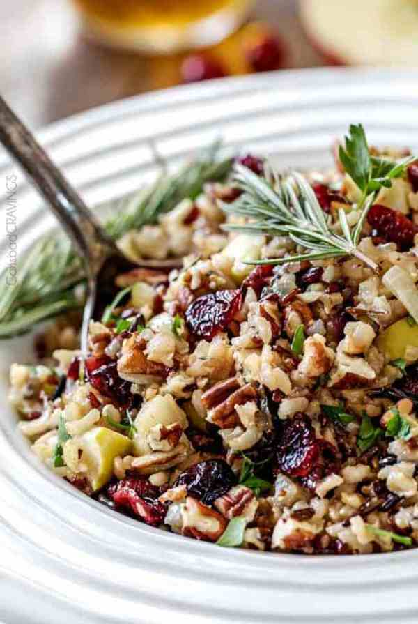 rice turkey stuffing with rosemary and nuts
