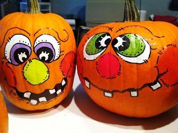 funny pumpkin painting ideas