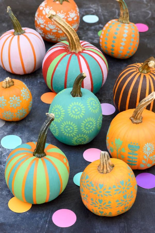 colorful pumpkin painting