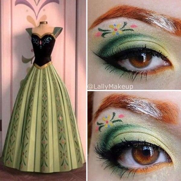 green eye shadow design