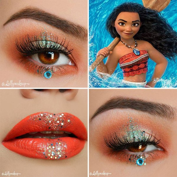 Moana Disney eye makeup