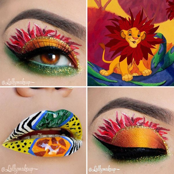 lion king Disney makeup